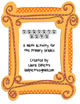 Pumpkin Math Activity Packet