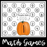 Pumpkin Math Addition Games
