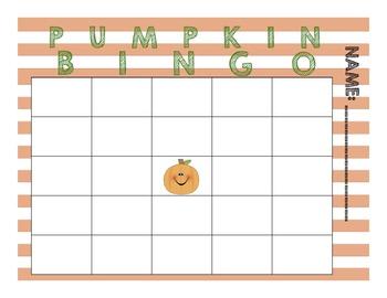 Pumpkin Math Bingo