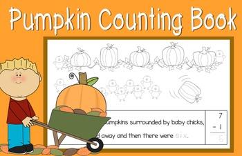 Pumpkin Subtracting by One (Math Mini Book)