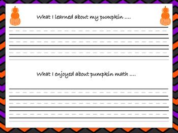 Pumpkin Math Book