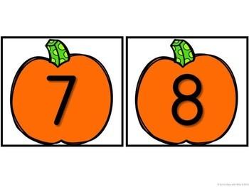 Kindergarten Pumpkin Math Center - Differeniated Fall Center - (0-10 or 10-19)