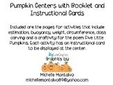 Pumpkin Math Center Booklet and Instruction Cards