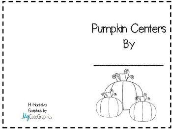 Pumpkin Math Center Booklet and Instruction Cards