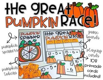 Pumpkin Math Center - EDITABLE