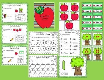 Pumpkin Math Center Sample