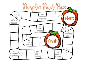 Pumpkin Math Centers: Subtraction Board Game
