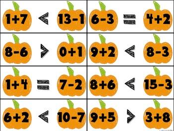 Pumpkin Math Centers and Printables