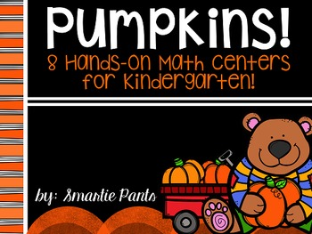 Pumpkin Math Centers for Kindergarten
