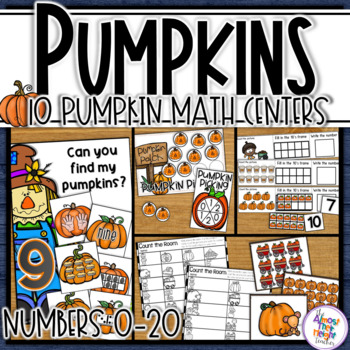 Pumpkin Math Centers for Number Sense / Recognition Activities for 0-20