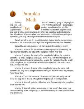 Pumpkin Math Day