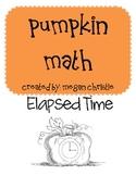Pumpkin Math Elapsed Time