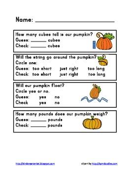 Pumpkin Math Exploration