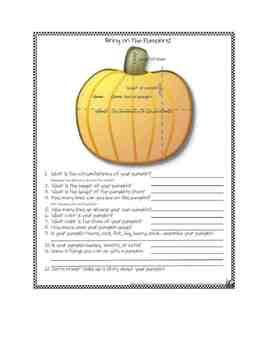 Pumpkin Math Explorations Worksheets!