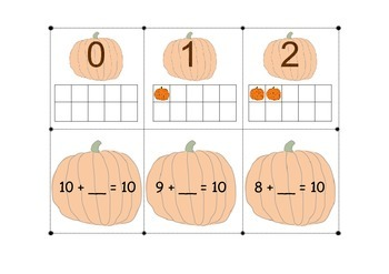 Pumpkin Math Fact Memory