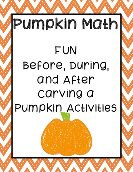 Pumpkin Math (Fall/Halloween Activity)