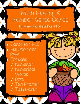 Pumpkin Math Fluency & Number Sense Cards | English | 1-10