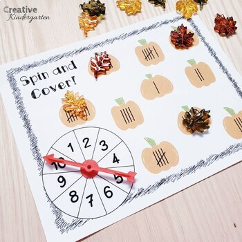 Pumpkin Math Games for Fall with Ten frames, tally marks, addition and graphing!