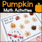 Pumpkin Math Activities for Fall (FRENCH version included)