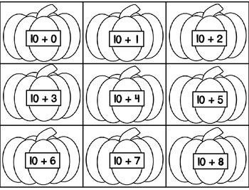 Pumpkin Math ~ Ink Saving MathCenters