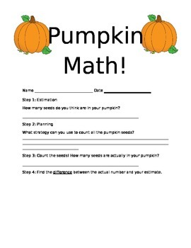 Pumpkin Math Investigation
