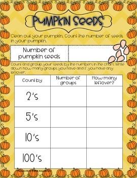 Pumpkin Math Investigation: 2nd and 3rd Grade Bundle
