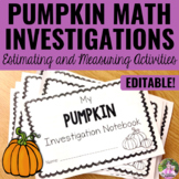 Pumpkin Math Estimating and Measuring Activities