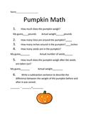 Pumpkin Math Lesson