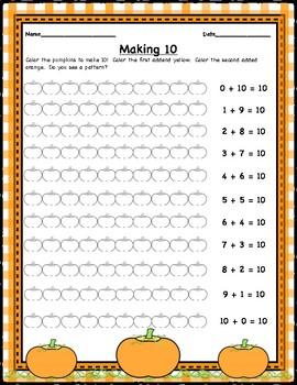 Pumpkin Math, Making 10