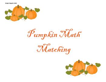 Pumpkin Math:Matching