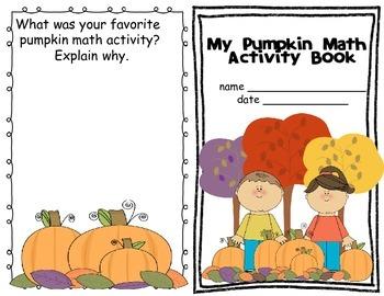 Pumpkin Math- Math skills using real pumpkins!