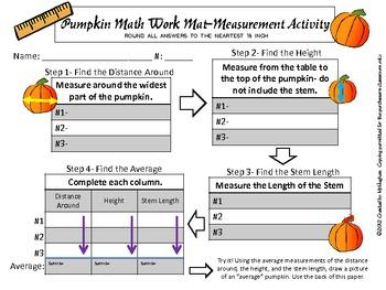 Pumpkin Math {Measurement Centers Using Pumpkins}