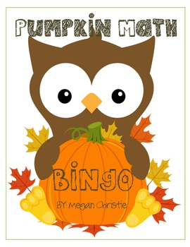 Pumpkin Math Multiplication BINGO