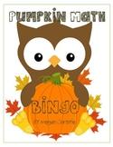 Pumpkin Math Multiplication BINGO