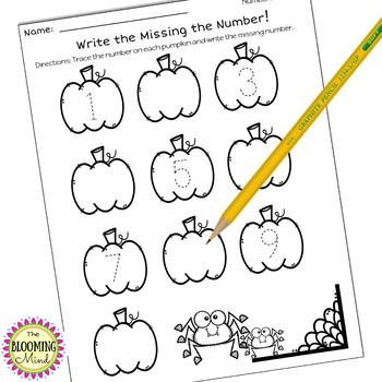 Pumpkin Math Worksheets {No Prep}