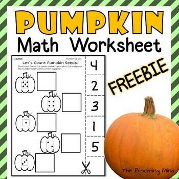 Pumpkin Math Worksheet Teaching Resources | Teachers Pay Teachers