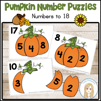 Pumpkin Math Number Puzzles: Decomposing & Composing Numbers to 18