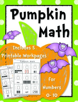 Pumpkin Math {Number Work} Workpages 0-10