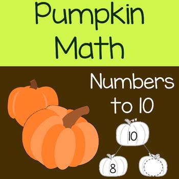 Halloween Pumpkin Math Numbers to 10
