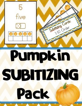 Pumpkin SUBITIZING Pack