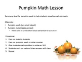 Pumpkin Math Placemats - Using Pumpkin Seeds