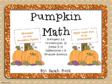 Pumpkin Math - PreK, Kindergarten, First