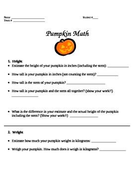 Pumpkin Math Project