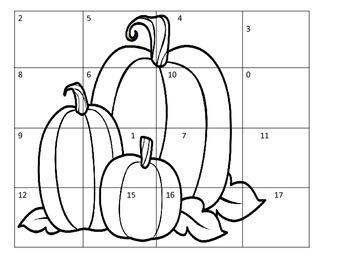 Pumpkin Math Puzzle