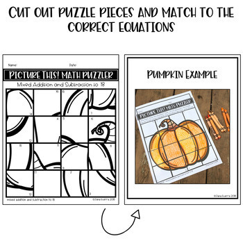 Pumpkin Math Puzzle FREEBIE