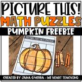 Pumpkin Math Puzzles FREEBIE