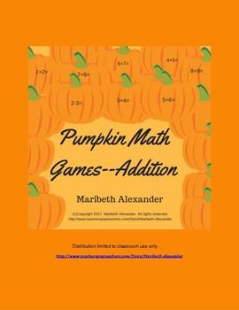 Pumpkin Math Rap Games--For Addition