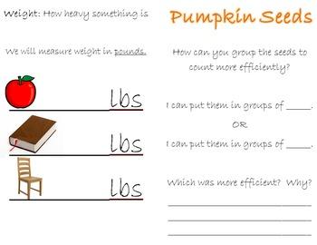 Pumpkin Math Recording Booklet