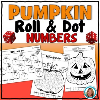Pumpkin Math Roll and Dot - Halloween