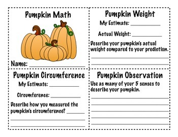 Pumpkin Math/Science Book - Pumpkin Centers